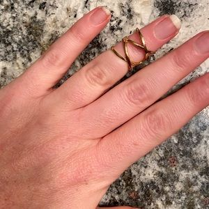 NWOT Francesca's Collection Gold Midi Ring